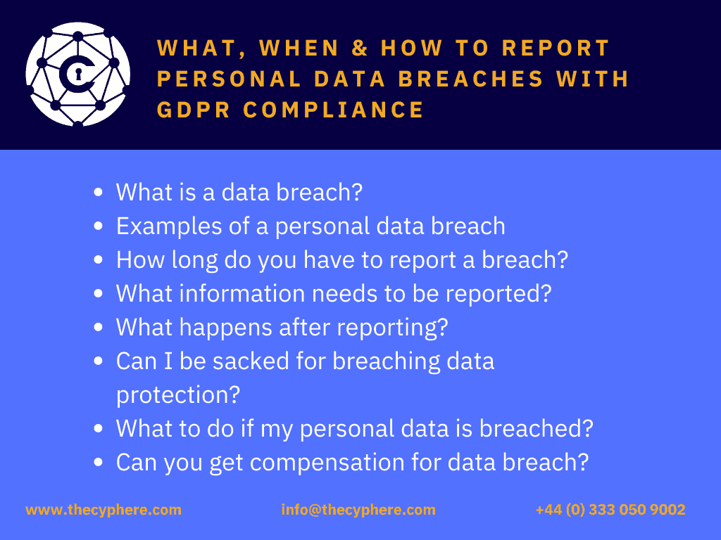 How to report data breach