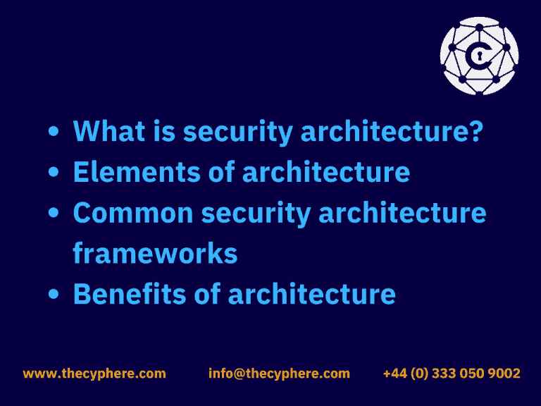 what is cyber security architecture