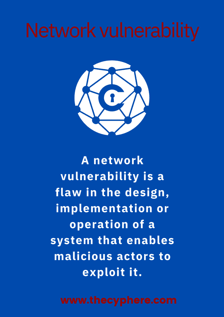 what is a network vulnerability
