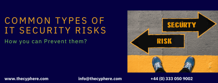 Common Types of IT Security Risks, how to prevent them