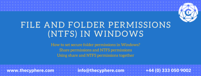 File and Folder Permissions (NTFS) in Windows