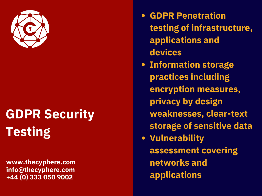 GDPR penetration testing services