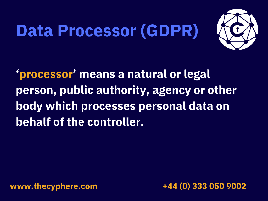What is data processor (GDPR)