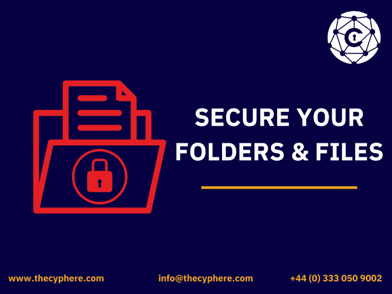 secure folder and files