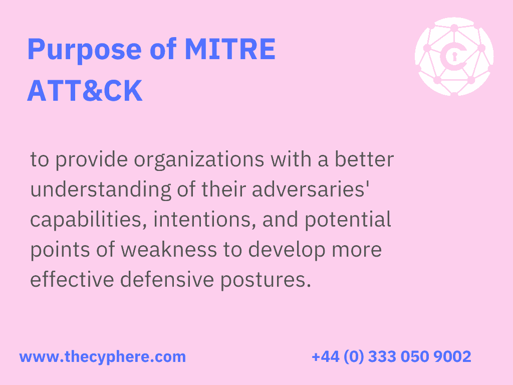 what is the purpose of mitre att&ck